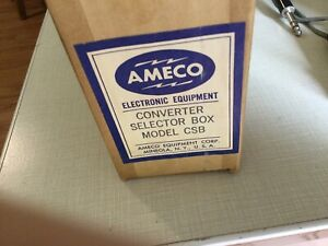 Ameco Model CSB Converter Box Switch, Partial Kit, absolutely beautiful copper!