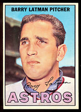 1967 TOPPS OPC O PEE CHEE BASEBALL #28 BARRY LATMAN NM HUSTON ASTROS CARD