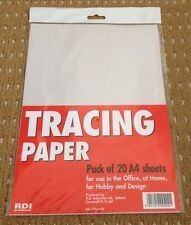 A4 Pack 20 Tracing Paper Sheets Stationery Supplies Arts Crafts School FREEPOST
