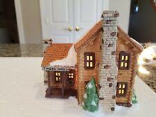 Department 56 New England Village Log Cabin - Rare Edition; Read
