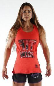 Fitwise Women's Sports Vest Gym Shirt Fitness Top Summer Wear Sleeveless Blouce