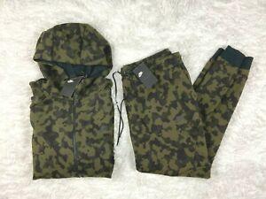 SZ 3XL | $230 Nike Sportswear Tech Fleece Hoodie & Sweatpants Set Olive Camo