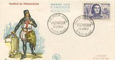 FIRST DAY COVER / PREMIER JOUR FRANCE / VILLEHARDOUIN 1959 PINEY