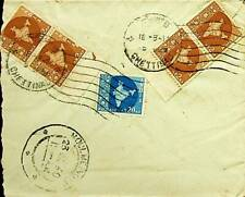 INDIA 1960 15 np CHETTINAD FRANKED AIRMAIL ENVELOPE TO BURMA UNCOMMON-44749