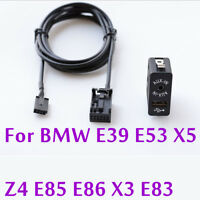 9237656 Car AUX USB Switch MP3 Music Adapter 12Pin Port  For BMW E39 E53 X5 Z4