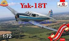 """Amodel 72303 """" Soviet Aircraft Yakovlev Yak-18T """" plastic model kit 1/72"""