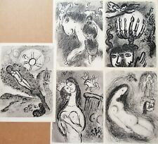 CHAGALL - FIVE (5) ORIGINAL HELIOGRAVURES - SUITE#6 - C. 1963 - FREE SHIP IN US!
