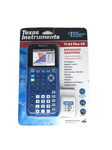Texas Instruments TI 84 PLUS CE Graphing Calculator - Blue NEW P13