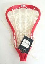 Stx Exult 10 Strung Lacrosse Head In White / Red Retail $100 Field Hockey