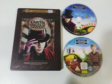 CHARLIE Y LA FABRICA DE CHOCOLATE DVD JOHNNY DEPP TIM BURTON STEELBOOK LIMITED