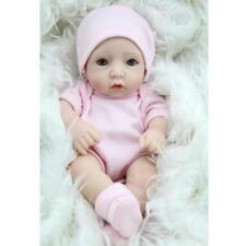 Pink Romper Socks Hat Set Clothes for 10-11inch Reborn Baby Girl Doll