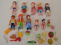99 ) Playmobil 10 Figuren Kinder für Schule Clown Badende Puppenhaus Zubehör