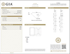 1.00 Carat Loose F / VS2 Emerald Cut Diamond GIA Certified