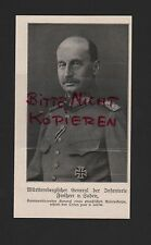 1917, Abbildung Württembergischer General der infanterie Freiherr v. Soden WWI