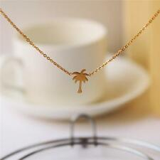 2019 Hot Boho Gold/Silver Palm Tree Stainless Steel Collier Necklace for Women