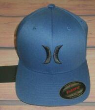 MENS HURLEY BLUE HAT FLEX FIT FITTED CAP SIZE L/XL
