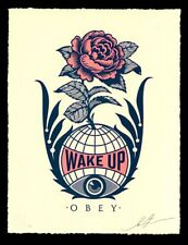 """Wake Up Earth"" Letterpress Signed - LE of 500 copies - Obey Giant SHIPPED"
