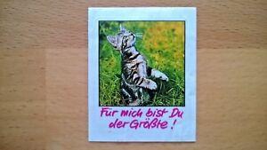 Original Duplo Sticker Aufkleber Kesse Kätzchen 1987 Serien-Bild Nr. 10 Katze