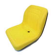 New Yellow HIGH BACK SEAT for John Deere Lawn Mower Models 325 345 415 425
