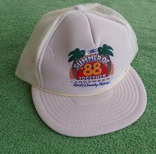 Vintage Lakewood CA Summer 88 Trucker Baseball Hat Rock Country Festival 1988