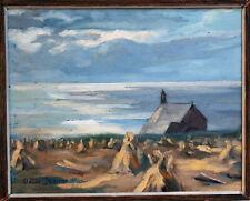 Claude Jeanne bord de mer Bretagne peintre Breton marine impressionniste