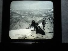 VINTAGE COLLECTIBLE GLASS PICTURE NEGATIVE Clouds Rest to Sierra Nevada Mountain