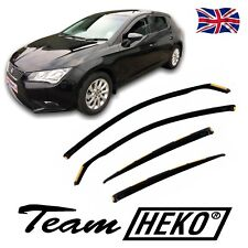 DSE28239 SEAT LEON mk3 5-DOOR 2013-up WIND DEFLECTORS  4pc HEKO TINTED