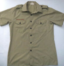 Boy Scout Uniform Shirt USA Made BSA Khaki Short Sleeve Size Mens M Med Beige 2