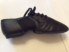 Black leather split  jazz shoe Various sizes to clear limited stock new in bag.