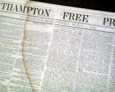 (10) Civil War Era Northhampton Massachusetts w/ Abraham Lincoln 1864 Newspapers