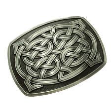 Classic Zinc Alloy Celtic Pattern Belt Buckle Rectangle Rodeo Indian Retro