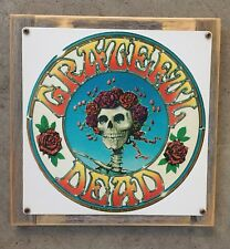 Grateful Dead Skull & Roses Mouse Kelley Vintage Art Poster Framed Steel Sign