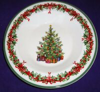 "Christopher Radko TRADITIONS Holiday Celebrations soup/cereal BOWL 9"" Christmas"