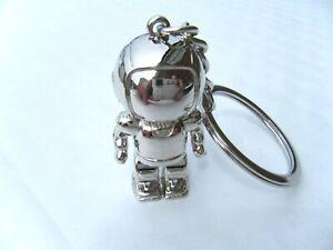 Astronaut Space Suit Chrome Metal Keyring