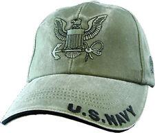 U.S. Navy Insignia Hat / USN OD Green Baseball Cap 5597