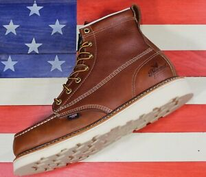 "Thorogood 6"" American Heritage Safety Steel Toe Work Boot FACT2ND USA [804-4200]"