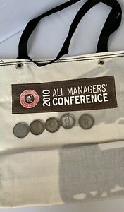 Rare Chipotle 2010 All Manager Conference Coins & Tote Bag