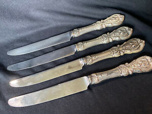 Set of 4 Reed & Barton Knives - Old French/Hollow Francis I Mirrorstele