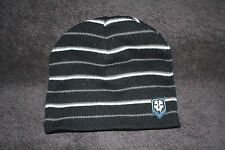 7132be06c1a Call Of Duty Ghost Beanie Cap Hat Activision Embroidered Logo Black  W Stripes