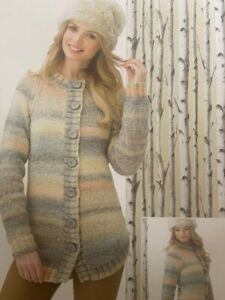 Ladies Long Chunky Cardigans Knitting Pattern Size 71-117cm - L171