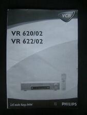 Bedienungsanleitung Videorecorder Philips VR620/02 VR622/02
