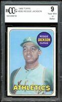 1969 Topps #260 Reggie Jackson Rookie Card BGS BCCG 9 Near Mint+
