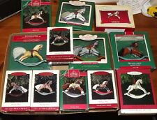 Hallmark Keepsake Rocking Horse ornament lot of  12 with boxes