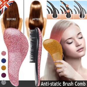 Hair Handle Tangle Magic Detangling Comb Anti-static Brush Salon Styling UK