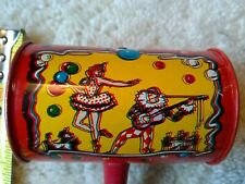 Vintage Tin Life of the Party Noise Maker Wood Handle Clanger New Year's Eve 4x5