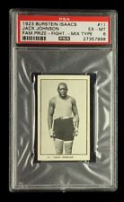 JACK JOHNSON 1923 BURSTEIN ISSACS TOBACCO CARD PSA 6  *MIX TYPE* VERSION
