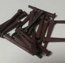 10 Primitive Antique New/Old Stock Hand Forged Iron Cut Nails 1 1/4 Inch Real