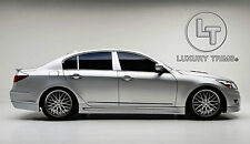 Genesis 4D Sedan Stainless Steel Pillar Posts by Luxury Trims 2009-2014 (6pcs)