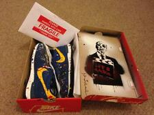 Rare find! MR BRAINWASH Just Did It Blue NIKE SHOE in BOX w COA sneaker trainers