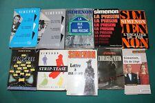 Georges Simenon. Lot de 10 livres